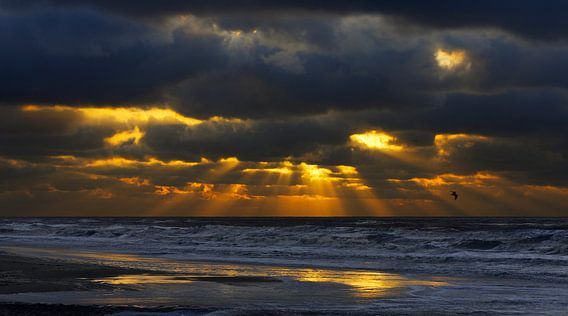 Katwijk Zonnestralen Breken door de Wolken