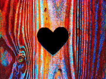 Hart-Hout (Hartje in gekleurd hout) van Caroline Lichthart