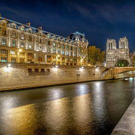The Seine en de Notre Dame van Rene Siebring