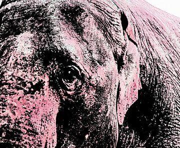 Roze olifant van Artelier Gerdah