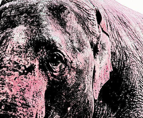 Roze olifant van Gerda H.