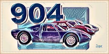 Porsche 904 - 1965 von JiPé digital artwork