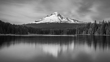 Zonsondergang Mount Hood van Henk Meijer Photography