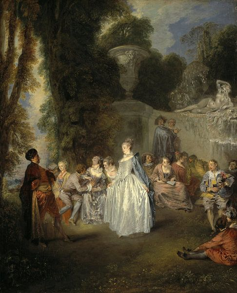 Jean-Antoine Watteau - Fêtes Venitiennes van 1000 Schilderijen