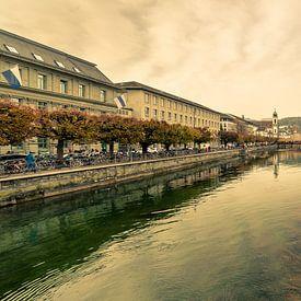 Rue de la gare et pont de la chapelle de Lucerne sur Tony Buijse
