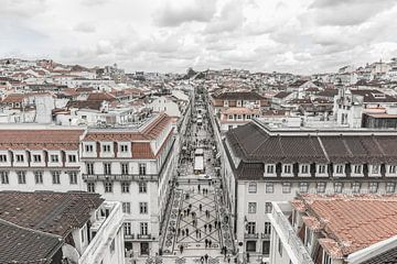 Rua Augusta á Lisbonne sur MS Fotografie | Marc van der Stelt