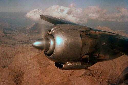 Vliegtuig motor 1961 van Aad Windig