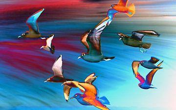 Seagulls van Jacky Gerritsen