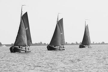 Drei Segelboote von Marian Sintemaartensdijk