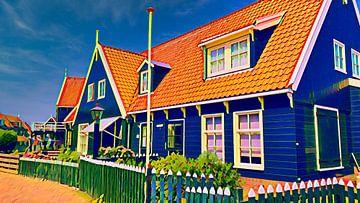 Haus mit Zaun, Marken von Digital Art Nederland