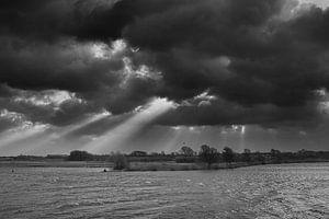 Storm boven de Lek