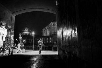 Straatfotografie Berlijn - Saxofoonspeler van Frank Andree