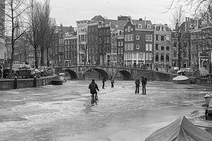 Ijs op de Amsterdamse grachten 2018 van
