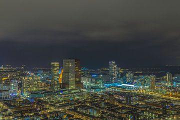 Den Haag Avond Skyline van Freddie de Roeck