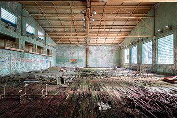 Verlaten Sportschool in Tsjernobyl. van Roman Robroek