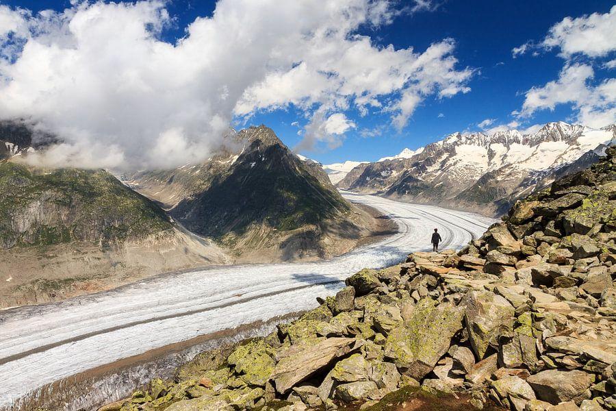 Aletsch gletsjer  van Dennis van de Water