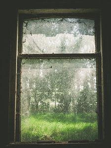 Vies verlaten raam