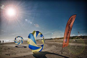 Dänemark mit Bol am Strand van