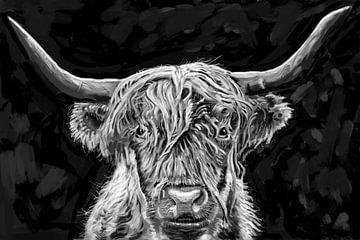 Schottischer Highlander von Bert-Jan de Wagenaar