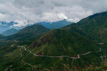 Vietnam: Tram Ton bergpas (Na Hui) van Maarten Verhees