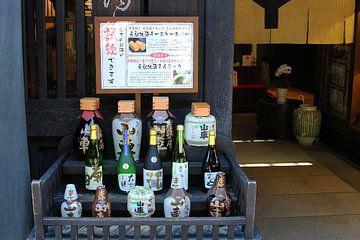 Sake flessen Japan van Inge Hogenbijl
