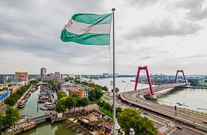 Het stadsgezicht van Rotterdam