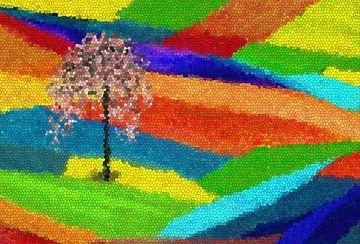 Sommerland-abstrakt von Marion Tenbergen