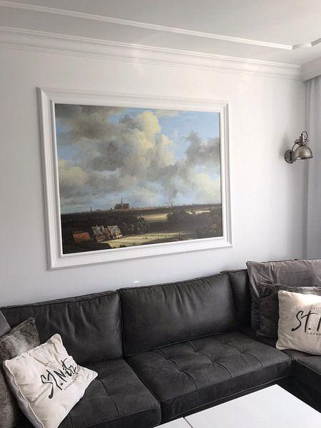 Klantfoto: Gezicht op Haarlem met bleekvelden, Jacob van Ruisdael, op naadloos behang