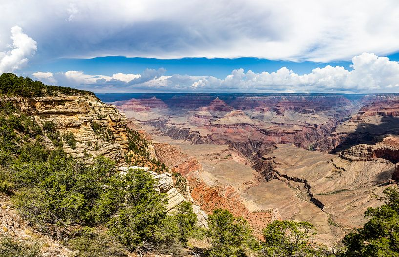 Wolken en Rotsen - Grand Canyon van Remco Bosshard