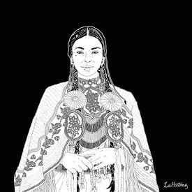 Portret van een  inheemse vrouw van Zoë Hoetmer