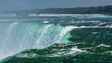 Horseshoe waterval van de Niagarawatervallen van Ed Steenhoek