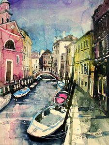 Venise, Rio delle Romite sur Johann Pickl