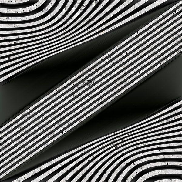 Geometrische Lijnen - Metaalkunst II van Christine Nöhmeier