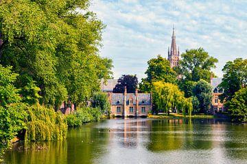Het Minnewaterpark in Brugge van Martijn Mureau