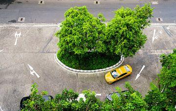 Gele Thaise taxi van Urban Photo Lab