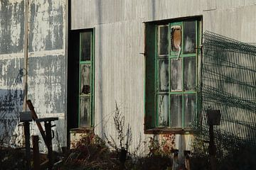 Oude schuur in Haven Nieuwpoort van Eddy Smets