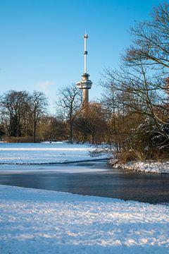 Der Euromast - Winter 1 von Nuance Beeld