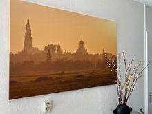 Kundenfoto: Skyline Middelburg von Gijs Koole, auf leinwand