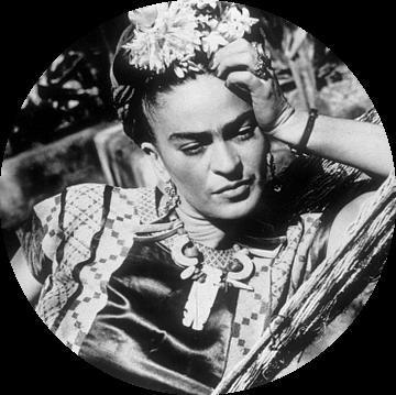 Frida Kahlo in een hangmat (1948) van Bridgeman Images