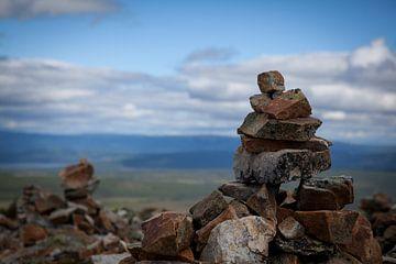 Stenen mannetje Zweden van Heleen Klop