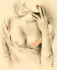 Aphrodite van de moderniteit - erotische tekeningen van