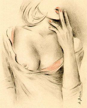 Aphrodite de la modernité - dessins érotiques sur Marita Zacharias