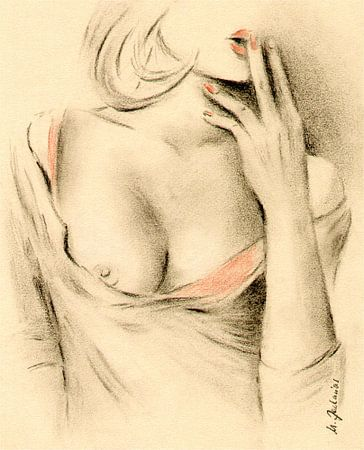 Aphrodite der Moderne - erotische Zeichnungen