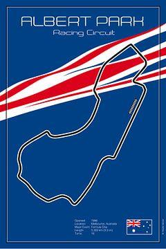 Melbourne-racebaan van Theodor Decker
