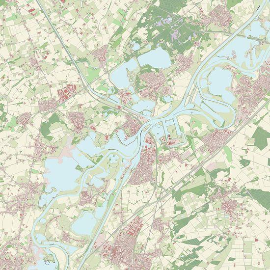 Kaart vanMaasgouw van Rebel Ontwerp