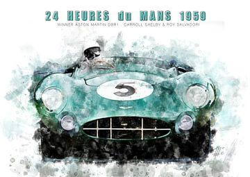 Aston Martin DBR1, Le Mans winnaar 1959 van Theodor Decker