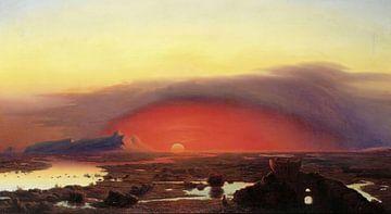 Die Pontinischen Sümpfe bei Sonnenuntergang, Kopisch August