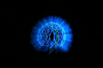 Nest licht kunst blauw van Saskia Hoks