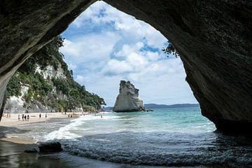 Cathedral Cove, Nieuw Zeeland van Erich Fend