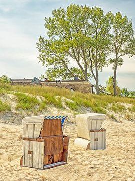 Strandkörbe am Strand von Ahrenshoop von Katrin May